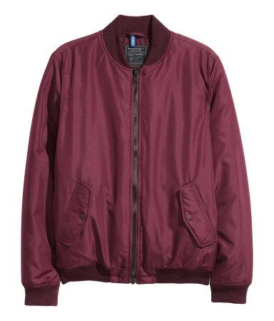bomber jacket burghendy