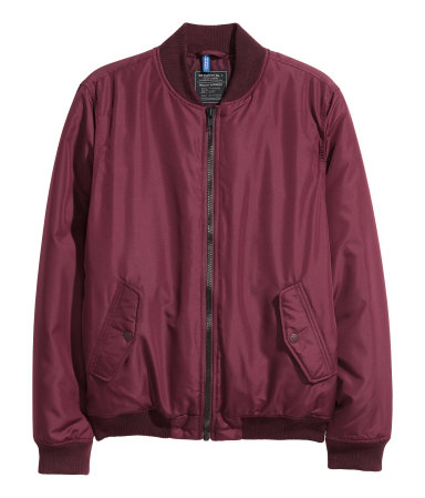 bomber jacket burghendy