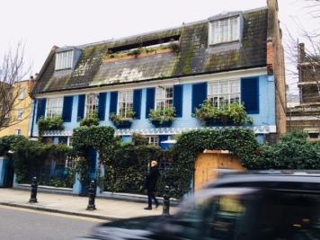beautiful blue tonal building